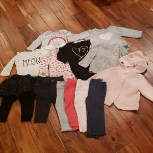 GAP, Old Navy & Carters Baby Girl Lot 6-12months